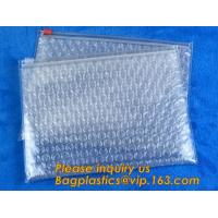 Best Cosmetic Slider Ziplock Bubble Bags Bubble Slide Pouch,ziplock esd bubble bag bubble packaging wrap cosmetic pouch slide wholesale
