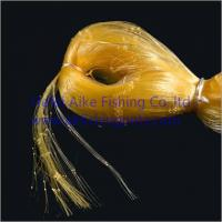 Best 0.20mm*6ply nets,Nylon multi-mono fishing nets,germany material,shine yellow color,best strength and most soft wholesale