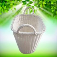 Best PP Rattan Woven Synthetic Wicker Oval Home Storage Basket Toys Debris Snack Storage rolling woven white wicker laundry wholesale