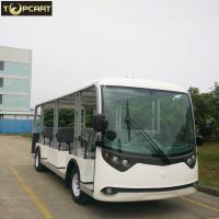 Buy cheap 23 Seats Electric Sightseeing Bus , Battery Powered Electric Shuttle Bus from wholesalers