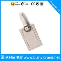 Best China factory supply high quingity soft leather luggage tag wholesale