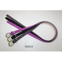 China Purple Full Leather Belts Customized Women Waist Belt China Export Agent on sale
