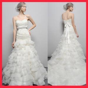 China Luxury beaded lace wedding dress NWD221 on sale