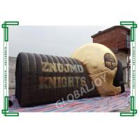 China Giant Football Helmet Tunnel Advertising Inflatables Customized In Golden wholesale