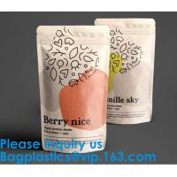 Buy cheap Biodegradable Foil Packaging Soft Zipper Stand Up Bottom Gusset Plastic Drinking from wholesalers