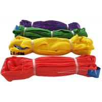 China Soft Polyester Endless Round Sling Polyester Webbing Sling For Lifting on sale
