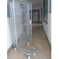 Best 2 Way / 4 Way Enter Metal Storage Cages Roll Container Silver Colored wholesale