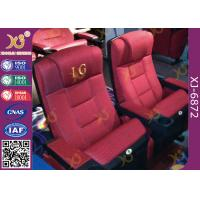 China Cinema Theatre Furniture Lounge Back Folding Up Chairs With Spring Seat on sale