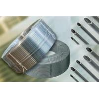 China Silver Grooved Threaded Aluminum Tube With Enhanced Heat Exchange Function on sale