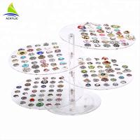 Acrylic Counter Top Jewelry Display Earring Display Stand Tray For Retailer