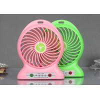 China Red / Green Plastic Portable USB Fan With Charger , Mobile Phones Accessories wholesale