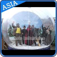 Best Airblown Yard Inflatable Bubble Tent Decoration , Inflatable Christmas Snow Globe wholesale