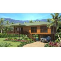 Best Light Steel Wooden House Bungalow / Luxury Beach Bungalows For Thailand wholesale