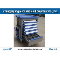 Best ABS Mobile Emergency Medical Trolleys Aluminum Alloy Columns With ABS Body Structure wholesale