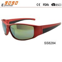 2017 new style sports sunglasses ,made of plastic, suitable for men