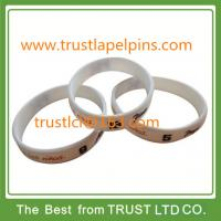 Best Customized design silicone bracelet, rubber band with printed logo wholesale