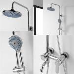 Best Brass Chrome Shower Mixer Set , Round Wall Mounted Shower Mixer wholesale