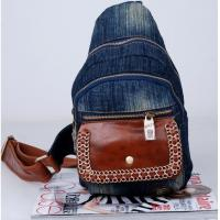 China wholesale price cowgirl jean backpacks denim free shipping on sale