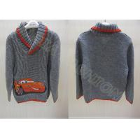 China Kids Holiday Sweater Shawl Collar Cable Knit Pullover For Boys on sale