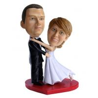 China Wedding custom bobbleheads cake toppers for wedding on sale