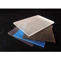 Best 3mm Embossed Solid Polycarbonate Sheet / Lichee Partition UV Polycarbonate Panels wholesale