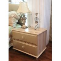 China PU Leather Covered Bedroom Bedside Tables Nightstand With Drawers wholesale