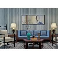 Best Black And Grey Striped Wallpaper / Contemporary Vertical Striped Wallpaper wholesale