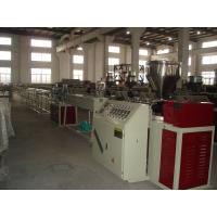 Best Twin Screw Wood Plastic Profile Extrusion Equipment / Profile Making Machinery 60mm - 300mm wholesale
