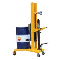 China Electronic Balance Type 1100mm Lifting Height Manual Drum Stacker With 450Kg Load on sale