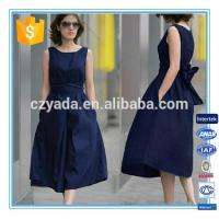 Best Fashion Lady Sleeveless Flare Linen Cotton Long Dress For Plus size wholesale