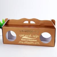 Best Gloss Varnish Custom Corrugated Boxes Height Weight Capacity Flexible With Window wholesale