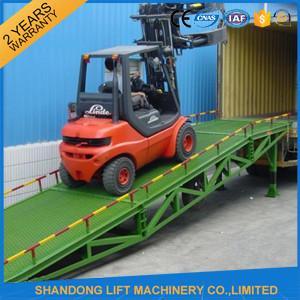 China 6 ton - 15 ton Hydraulic Trailer Ramp Lift with Anti Slip Corrugated Steel  Work Platform on sale
