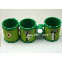 Best Custom cheap and cute cartoon pvc silicone wrap plastic promotional mugs wholesale