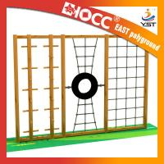 Best Preschool Wooden Playground Equipment LLDPE Plastic Material Anti Static wholesale