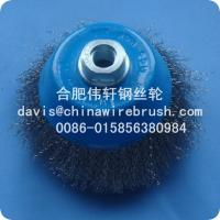 China 4 Crimped Wire Cup Brushes---5/8-11 Nut on sale