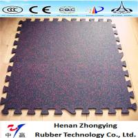 China Gym Interlocking rubber tiles/gym rubber floor rolls/sports rubber mat on sale