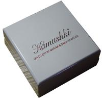 Best Offwhite Varnish Paint Keepsake Gift Boxes Shining Red For Earing Display wholesale
