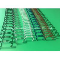 Best 23 Loops Double Loop Wire , Spiral Nylon Coated Twin Loop Wire wholesale