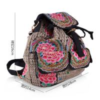 Yunnan JIXIU new arrival canvas girls backpack promotional price school bag