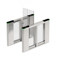 China Temperated Glass Full Height SUS316 Stainless Steel Swing Gate on sale