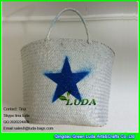 China LUDA classical hot selling cheap ladies handbag thailand straw bag for summer on sale