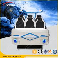 Buy cheap Amusement Roller Coaster 9D Virtual Reality Simulator Six Seats For Auto Show product