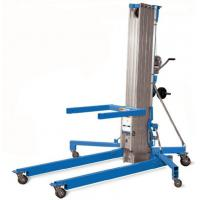 Best Portable Manual Pallet Stacker Aluminium Cylinder Type Manual Material Lift 6000mm Max Lift Height wholesale