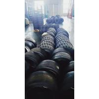 China Black Pneumatic Forklift Spare Parts Rubber Wheel Web Type Solid Tyre Tear Resistance on sale