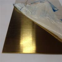 China AISI 304 316 stainless steel sheet hairline brass color decorative sheet 4x8 size price on sale