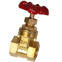 Best Lightweight Forged Steel Valves / 2 4 Inch Brass Gate Valve Simple Structure wholesale