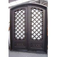 Best 62 in. x 97.5 in. Luce Lattice Classic 3/4 Lite Painted Oil Rubbed Bronze Wrought Iron Prehung Front Door wholesale