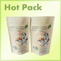 Best 200g Coffee Scrub Packaging Bag Resealable Kraft Paper Pouch Foil Lined wholesale