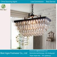 GLASS CRYSTAL CHANDELIER PENDANT 9 LIGHT Ceiling Lamp Metal Modern Living ROUND