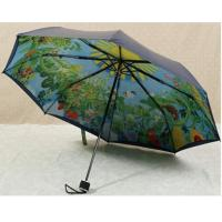 Best 21 Inches Collapsible Patio UmbrellaManual Open Metal Frame Printed Pattern wholesale